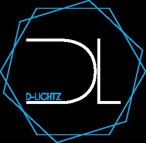 D-Lightz - logo wit blauw