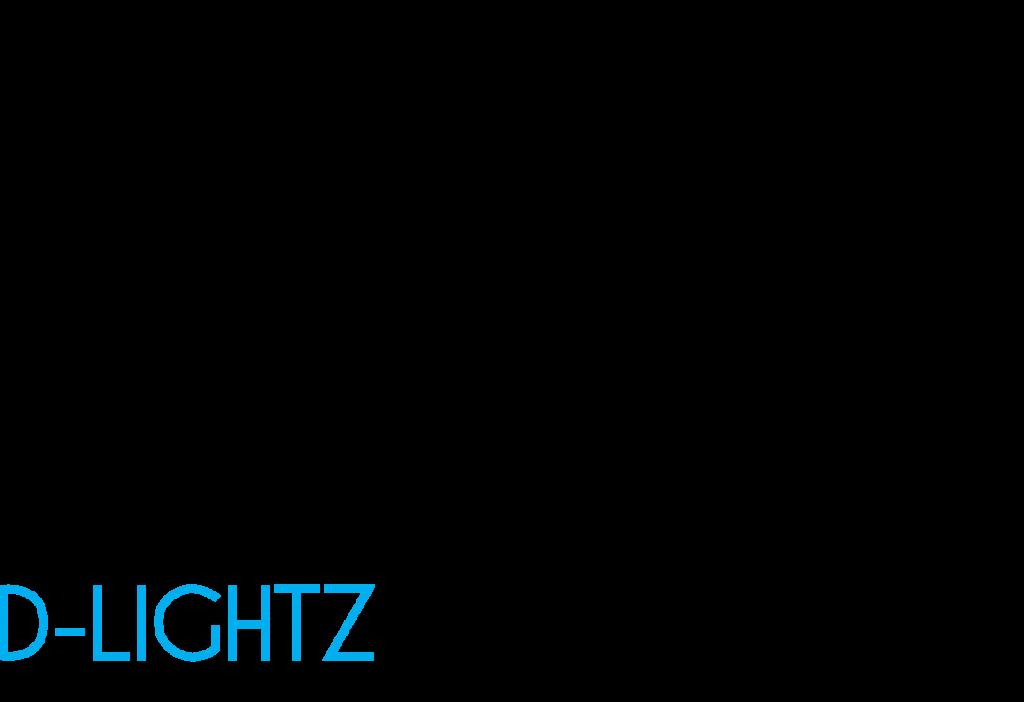 D-Lightz - logo zwart
